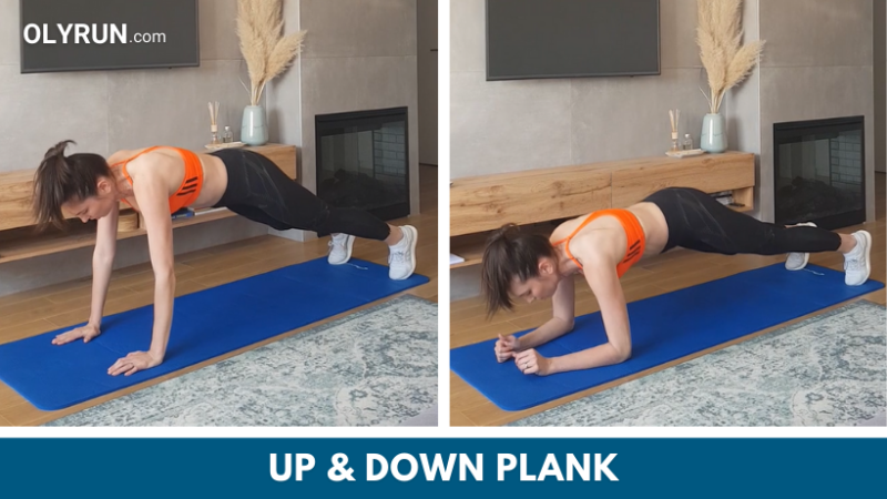 Up & down plank