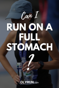 can i run on a full stomach