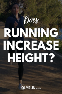 does running increase height